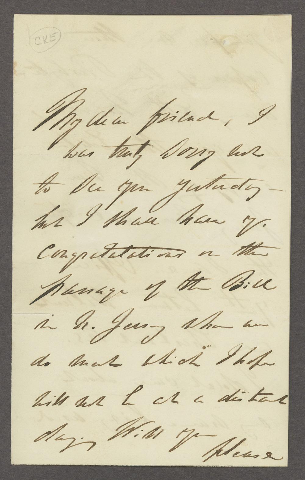 Dorothea Dix correspondence - 1 [Box 1 Folder 3]