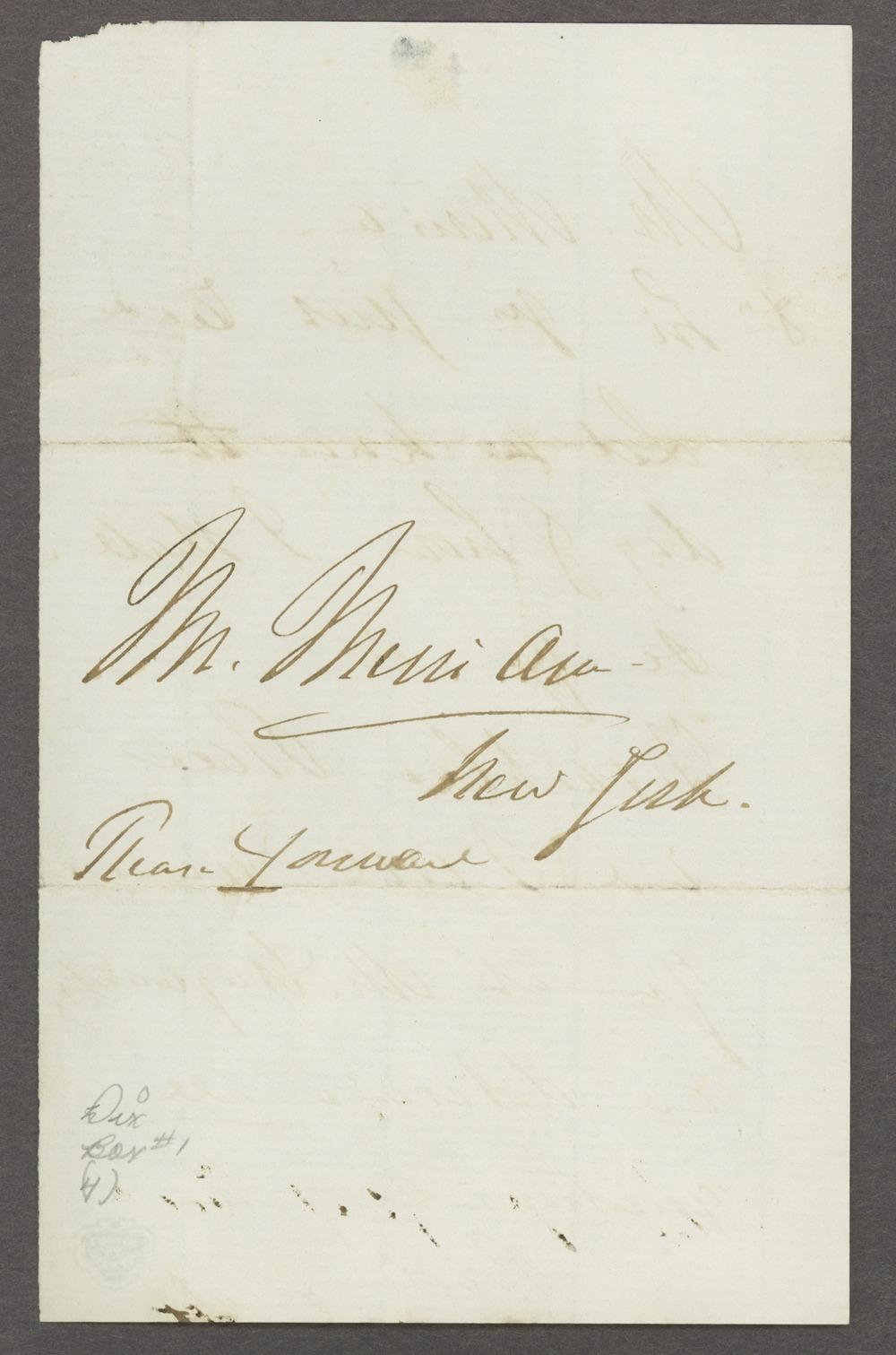 Dorothea Dix correspondence - 2