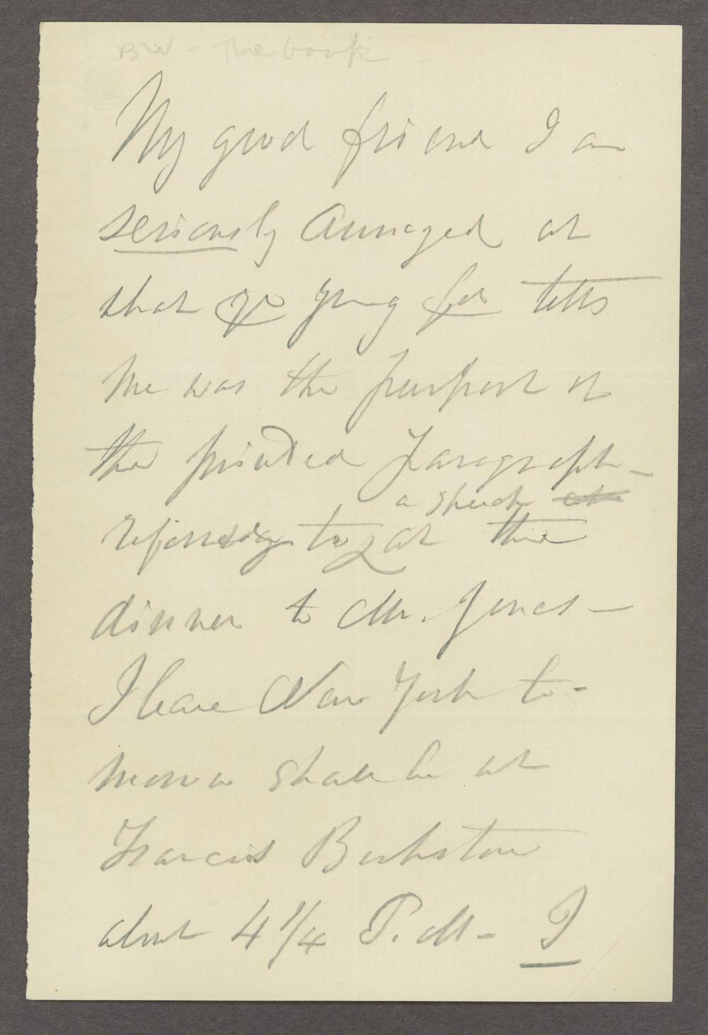 Dorothea Dix correspondence - 1 [Box 1 Folder 5]