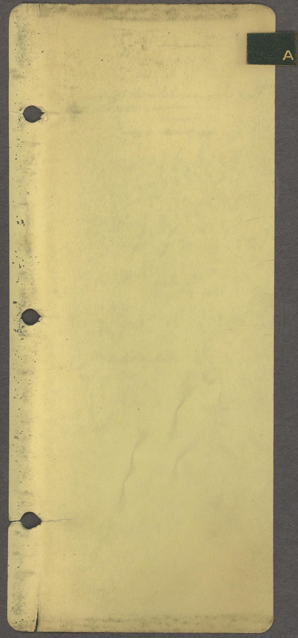 William Allen White address book - Tab A
