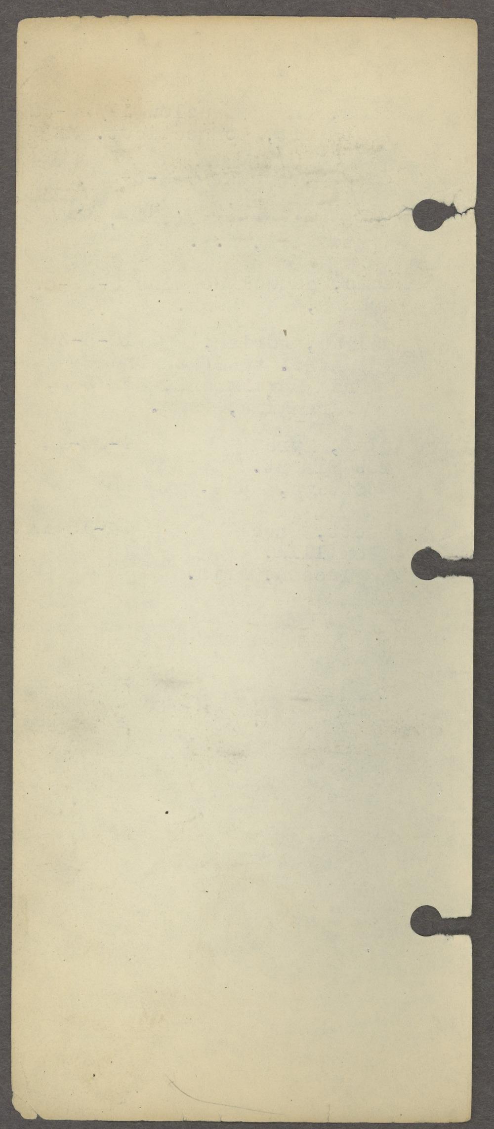 William Allen White address book - Blank page