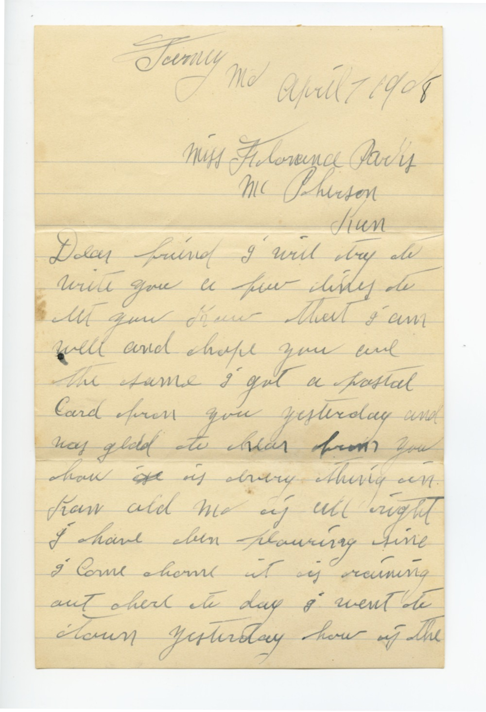 Arthur Edward Mattox and Hulda Florence Parks Mattox collection - 1