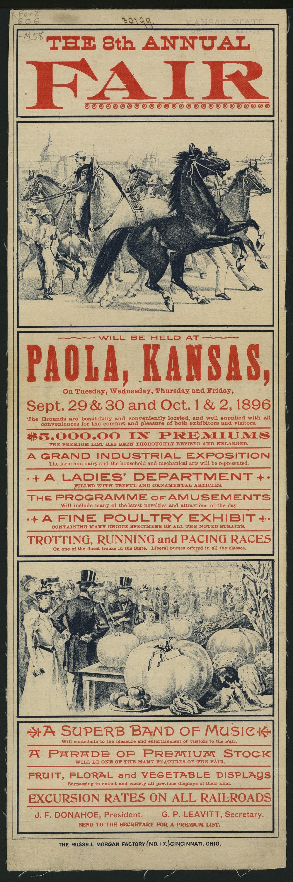 The 8th annual fair will be held at Paola, Kansas - 1