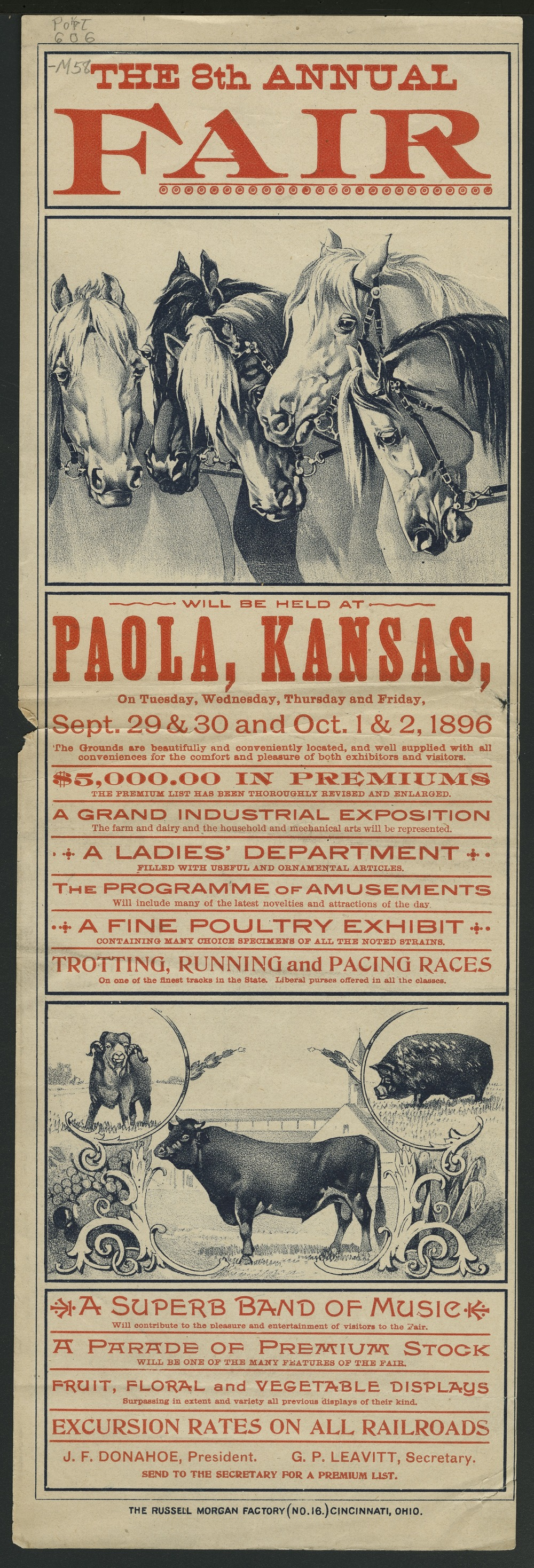 The 8th annual fair will be held at Paola, Kansas - 2