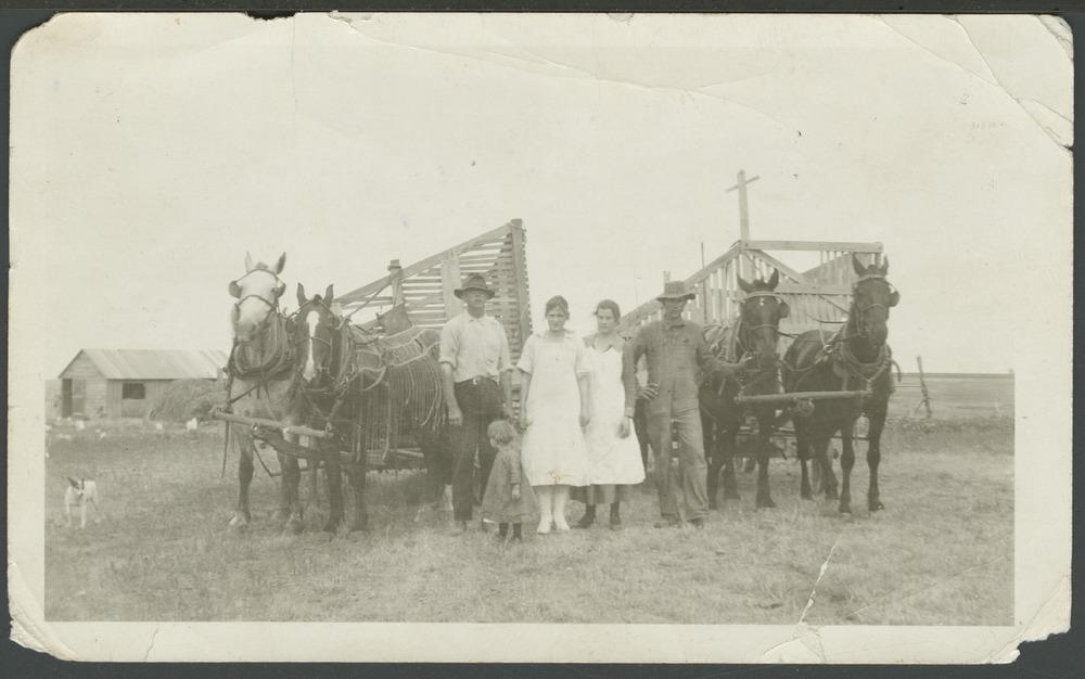 Farm equipment on Elmer Nicholson's farm near Jennings, Kansas - 1