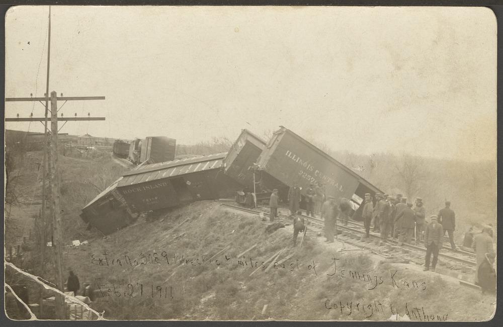Train derailment near Jennings, Kansas