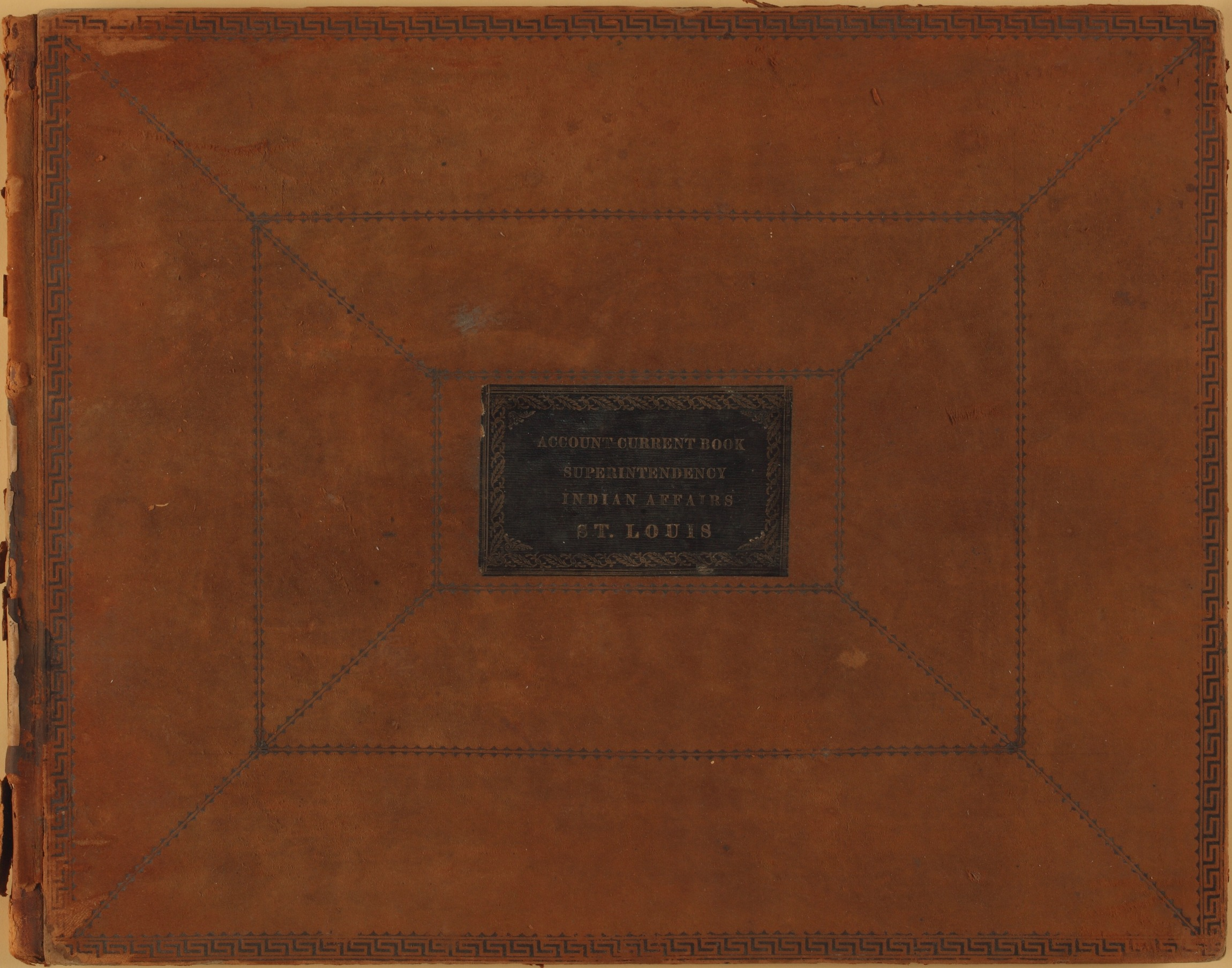 United States Office of Indian Affairs, Central Superintendency, St. Louis, Missouri. Volume 15, Accounts - Front Cover