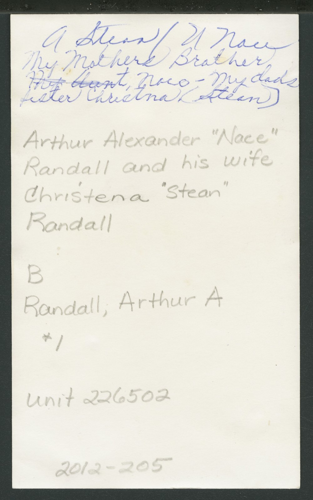 Arthur Alexander and Christena Randall - 3
