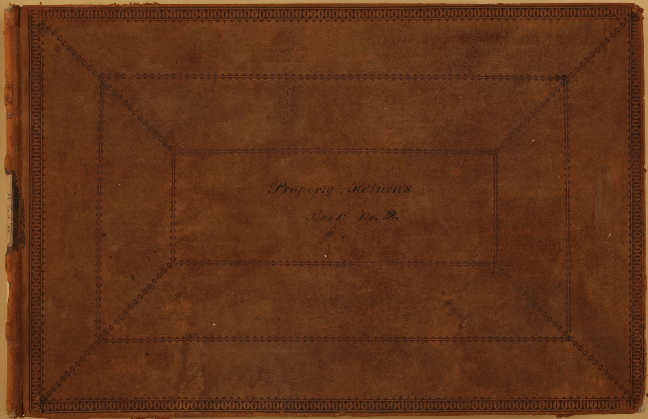 United States Office of Indian Affairs, Central Superintendency, St. Louis, Missouri. Volume 12, Property returns - Front Cover