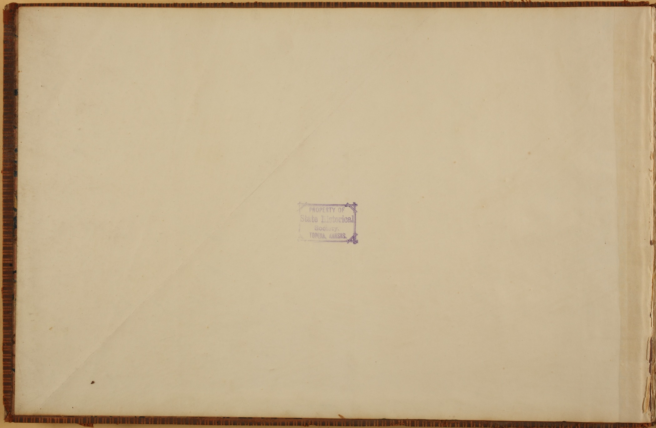 United States Office of Indian Affairs, Central Superintendency, St. Louis, Missouri. Volume 13, Accounts - Stamp