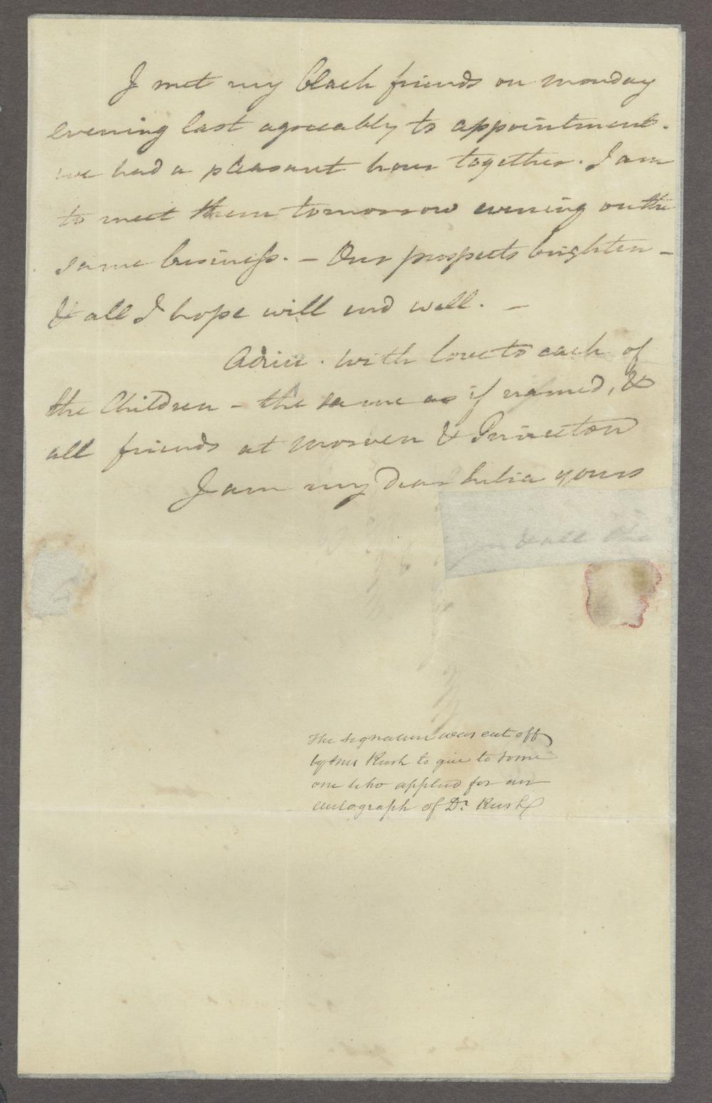 Benjamin and Richard Rush papers - 3