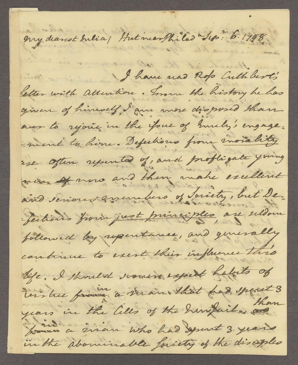 Benjamin and Richard Rush papers - 1 [Box 1 Folder 3]