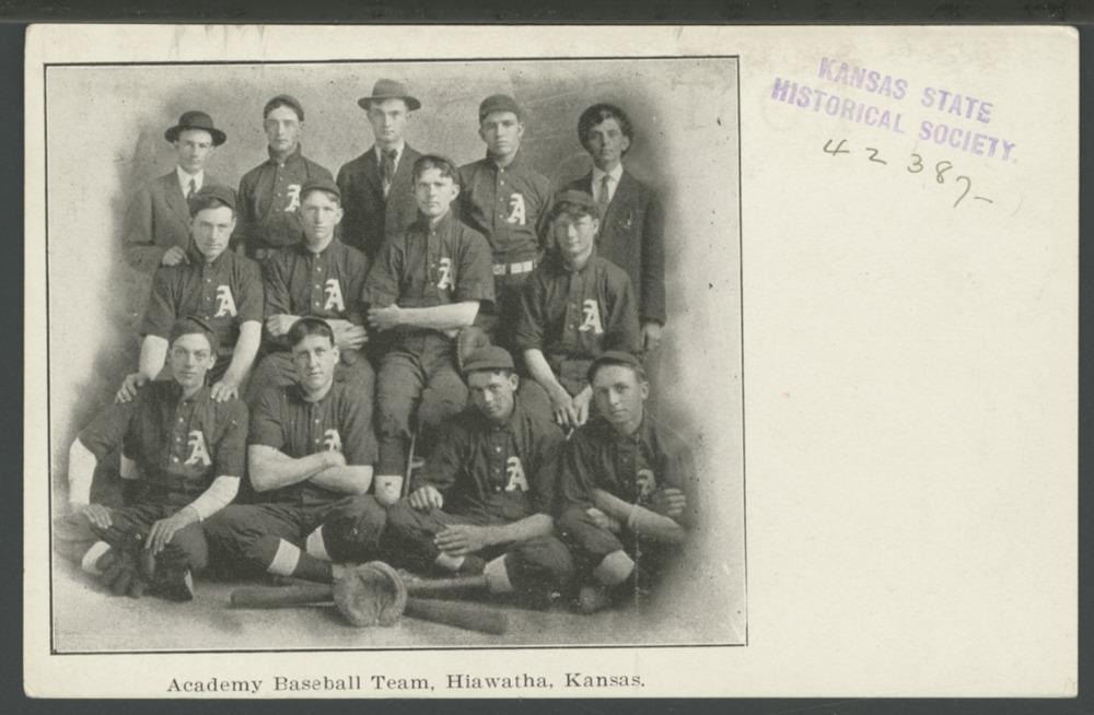 Academy baseball team, Hiawatha, Kansas - 1
