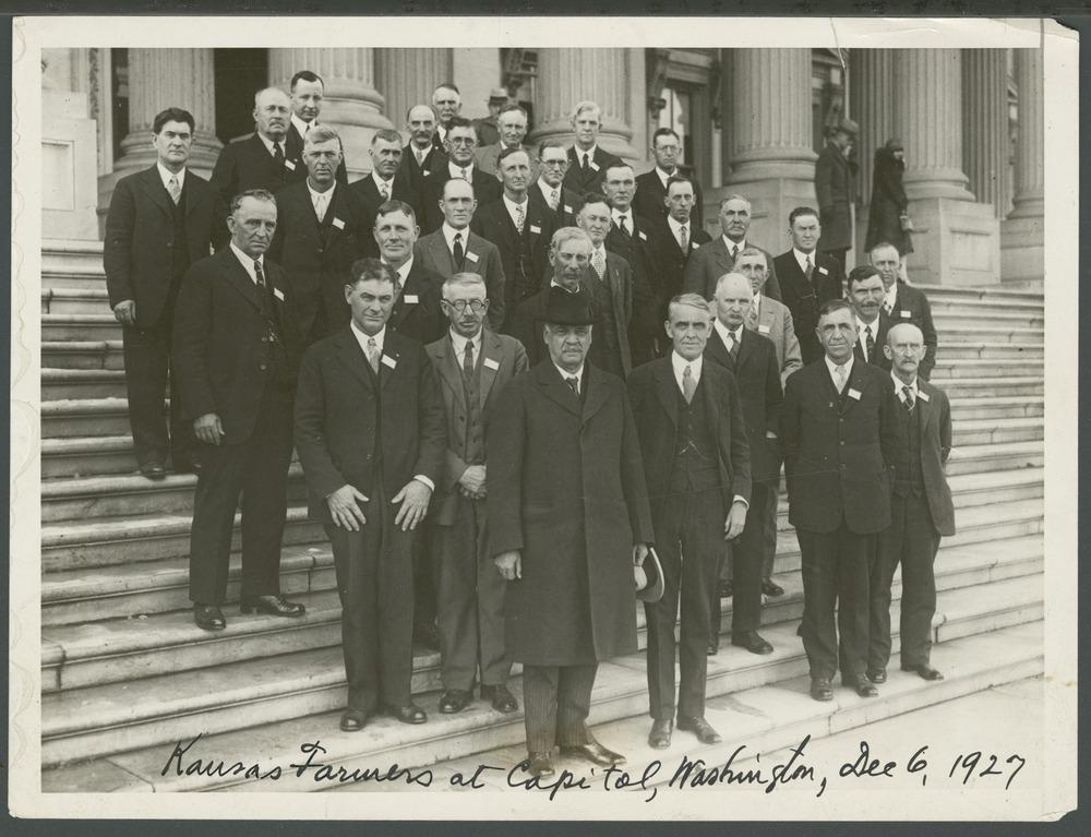 Kansas farmers at the capitol in Washington, D.C.