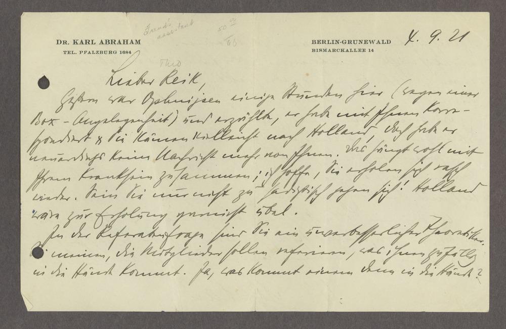 Historic Psychiatry original miscellaneous documents - 1 [Box 1 Folder 1]