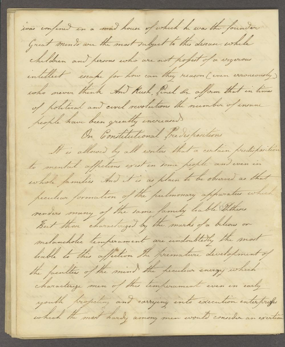 Historic Psychiatry original miscellaneous documents - 4