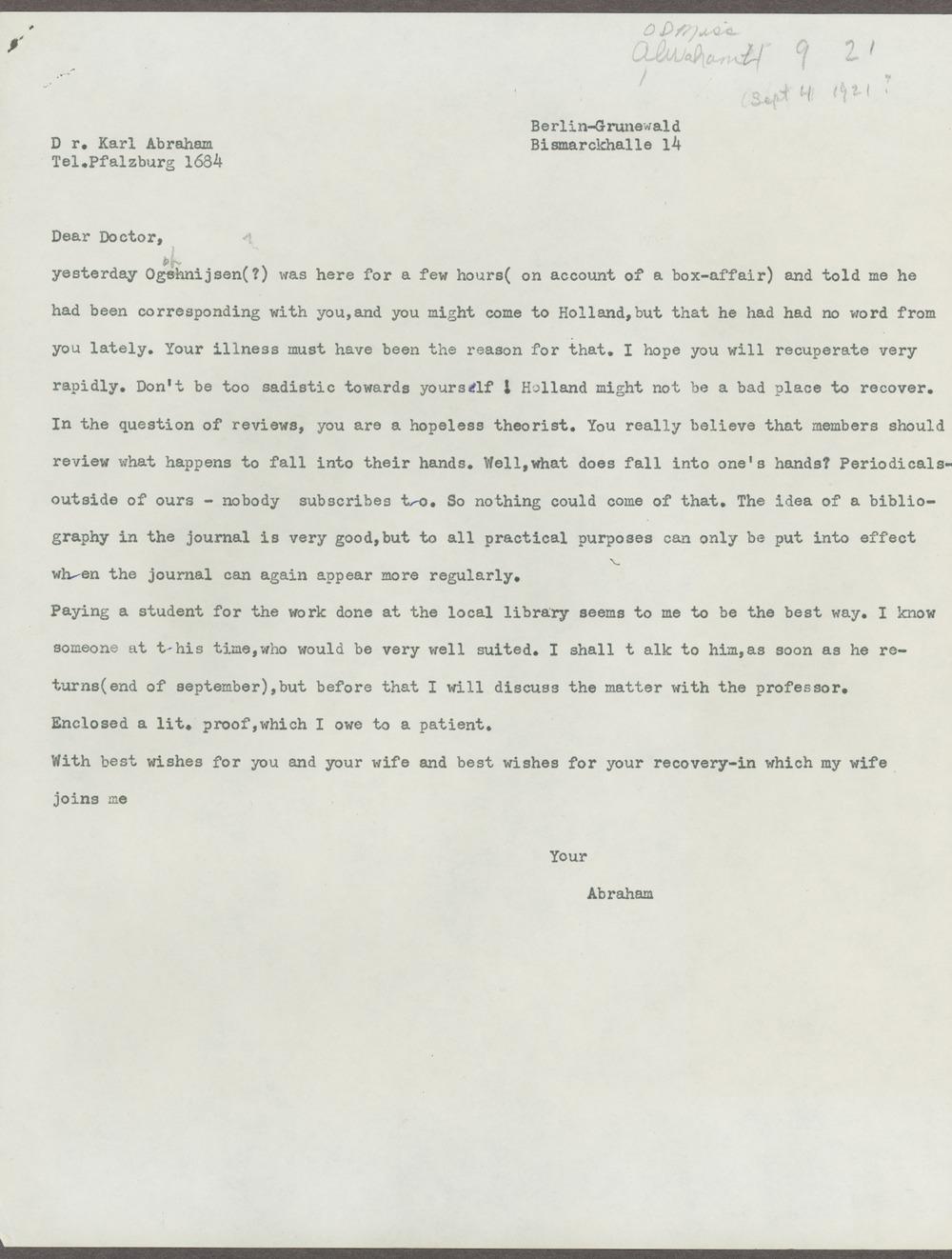 Historic Psychiatry original miscellaneous documents - 3
