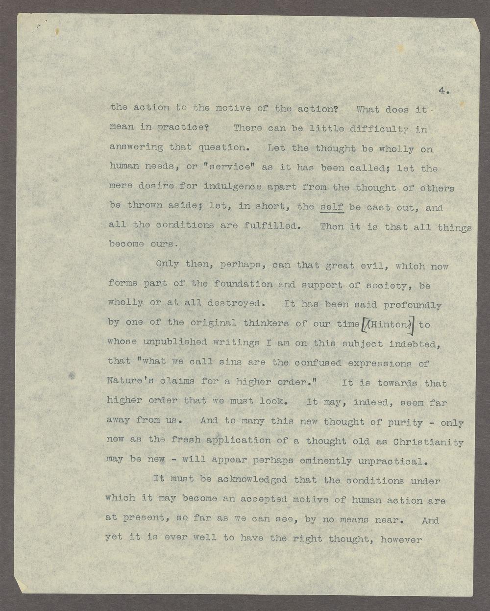 Henry Havelock Ellis papers - 4