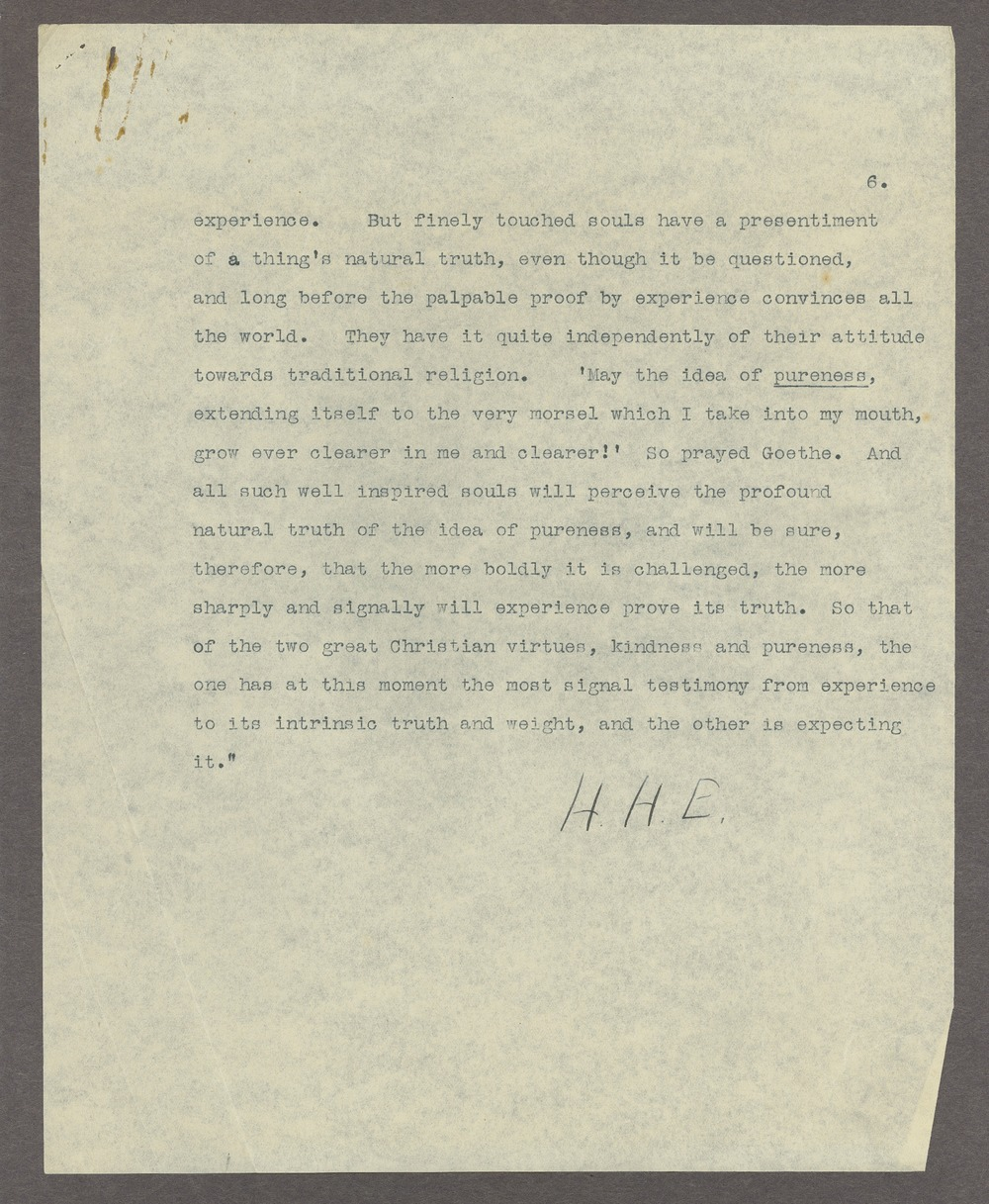 Henry Havelock Ellis papers - 6