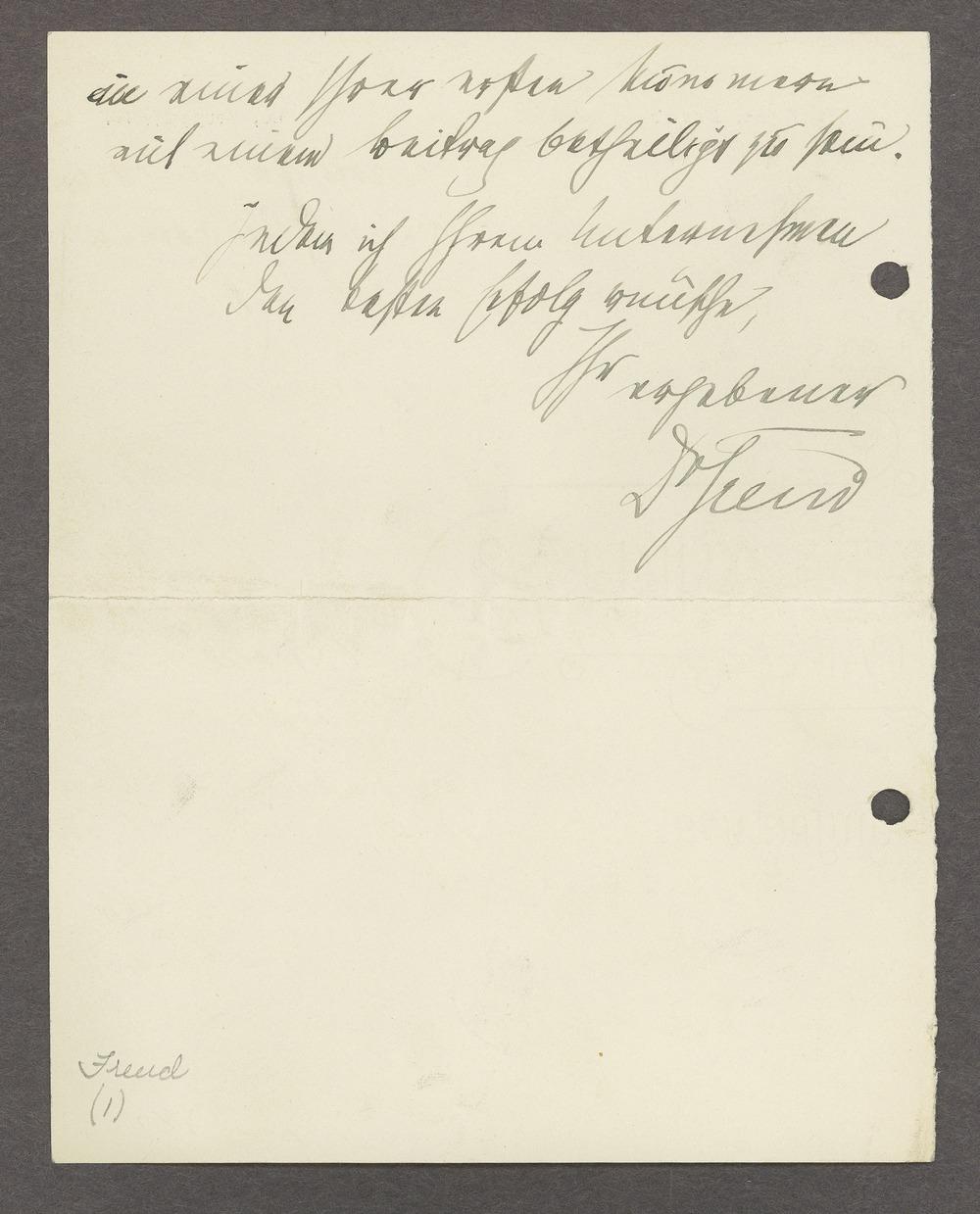 Sigmund Freud correspondence - 2