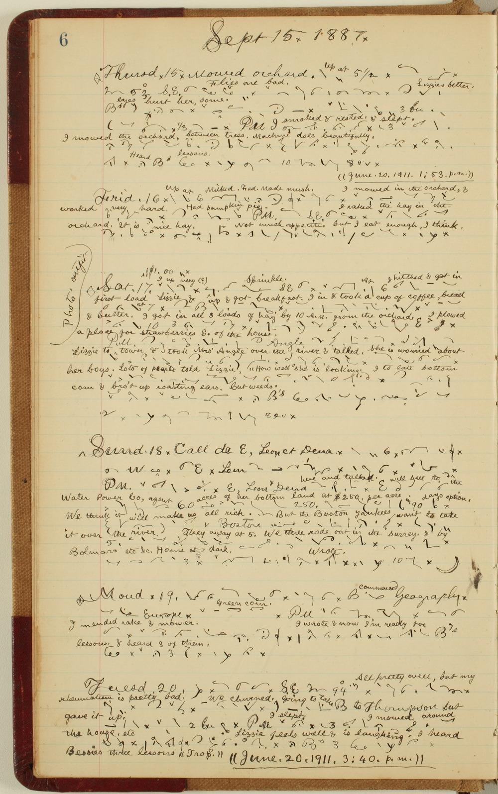 Samuel Reader's diary, volume 12 - 6