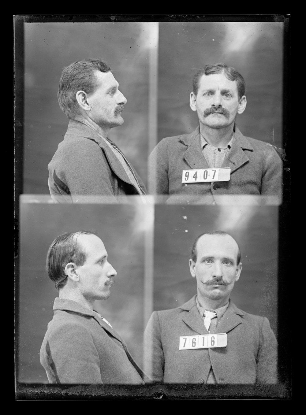 Charles Carey and J. F. Berlstein, prisoners 7616 and 9407, Kansas State Penitentiary