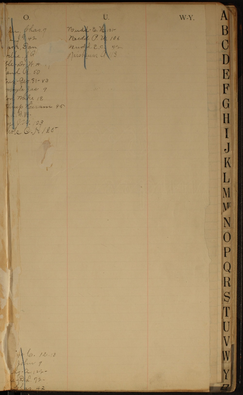 Hermon S. Major papers - Extra Page