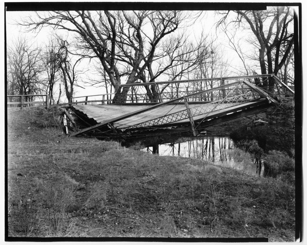Views of the Onion Creek bridge in Allen County, Kansas - 1