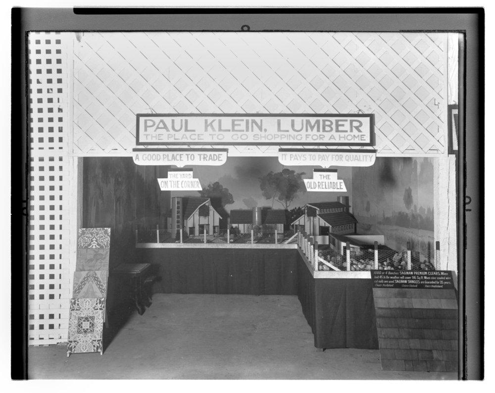 Allen County fair exhibits, Allen County, Kansas - Paul Klein, lumber, fair exhibit. *4