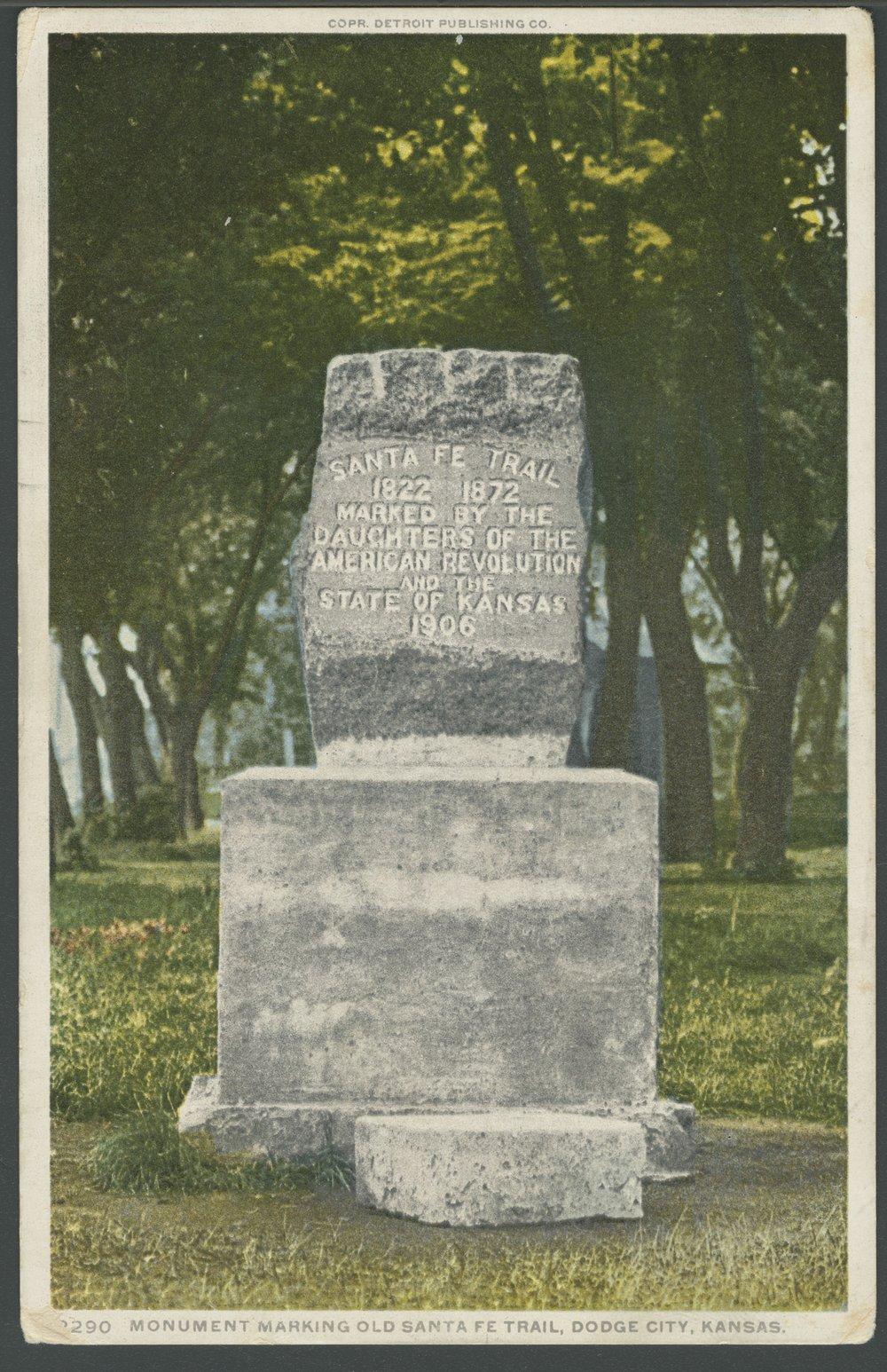 Santa Fe Trail monument, Dodge City, Kansas - 1