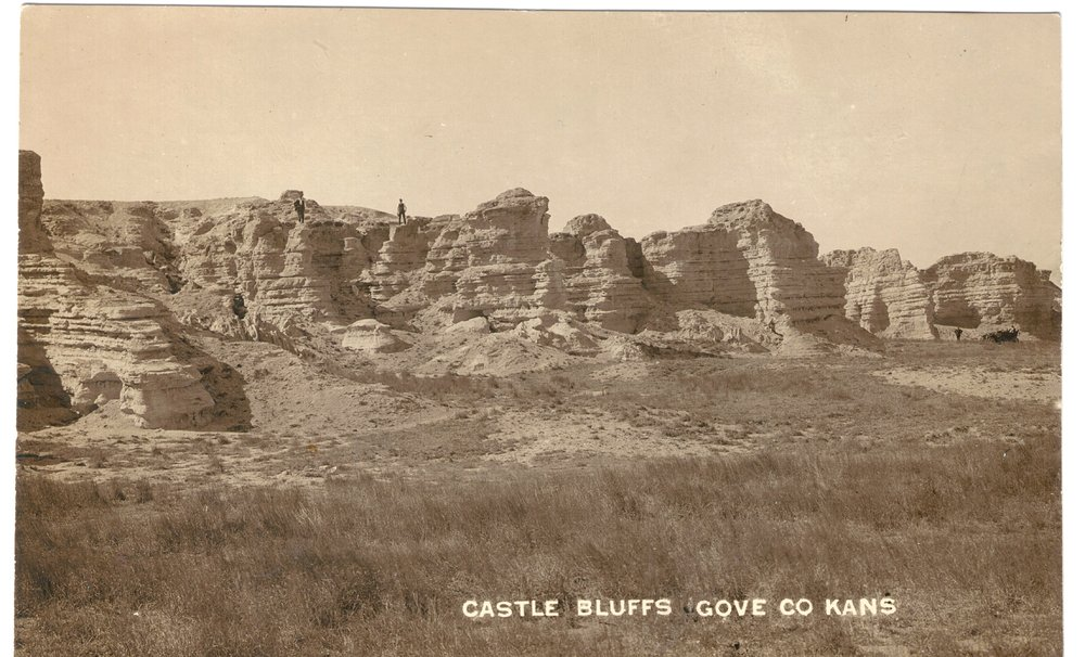 Castle Bluffs in Gove County, Kansas