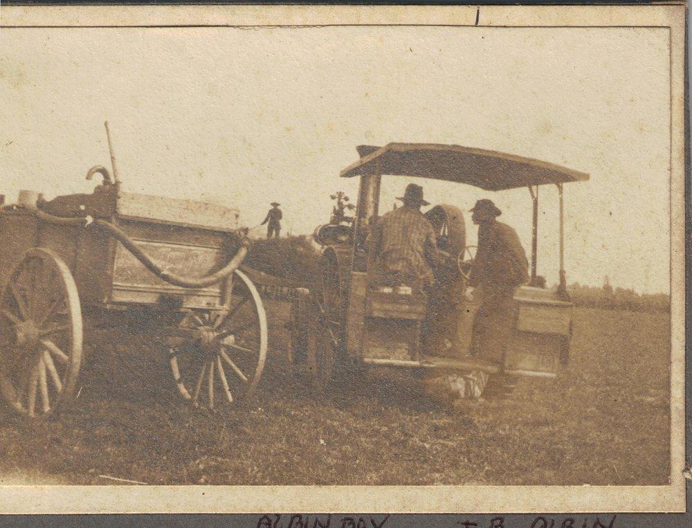 Harvesting on Thomas Bishop Albin's farm in Gove County, Kansas