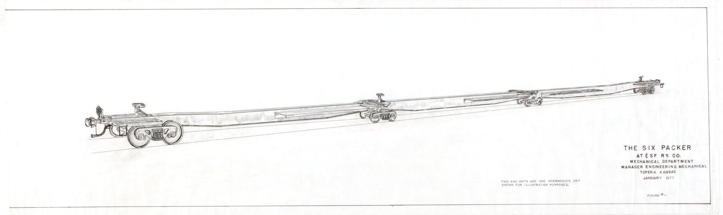 Atchison, Topeka & Santa Fe Railway Company six packer