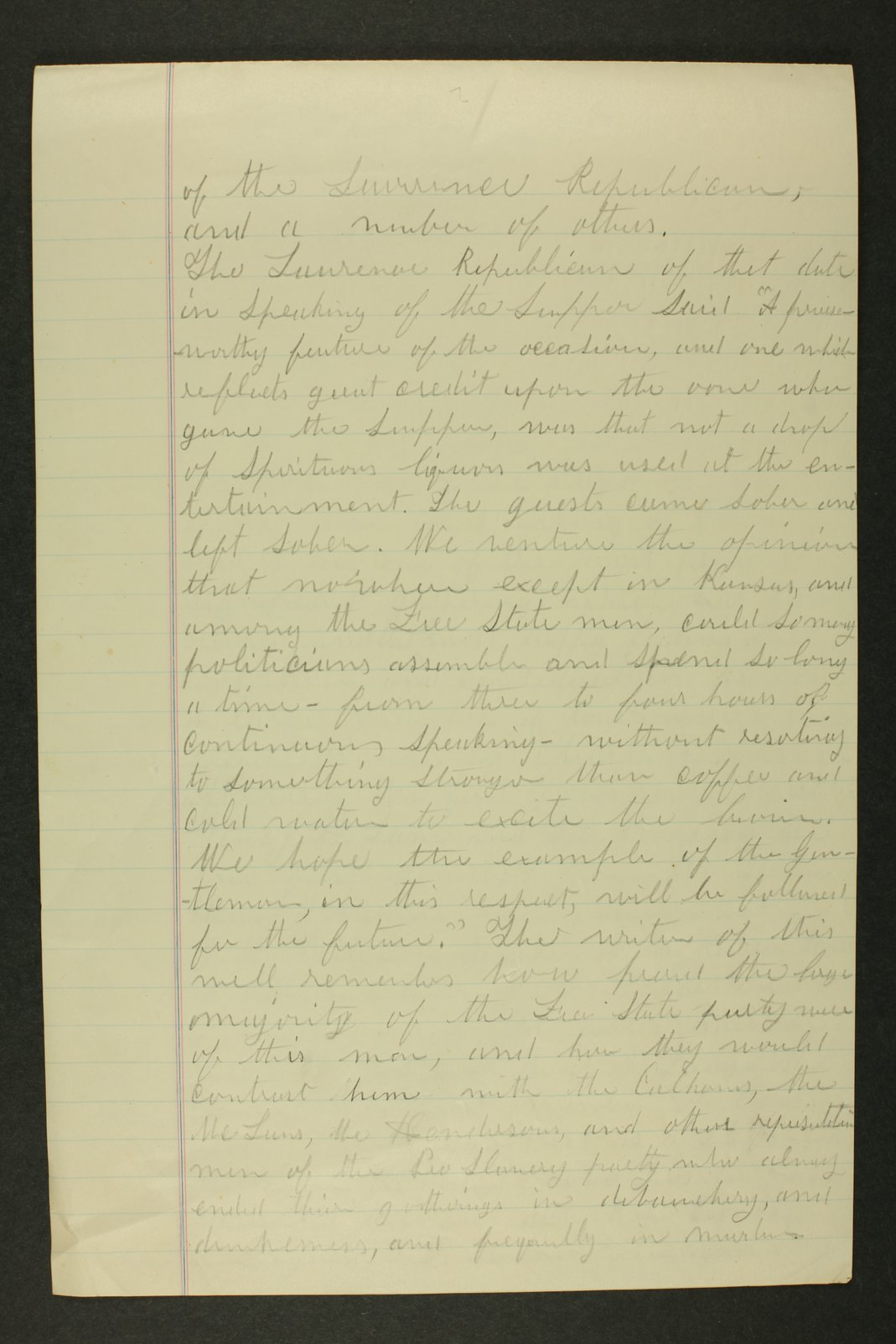 Temperance history correspondence - 8