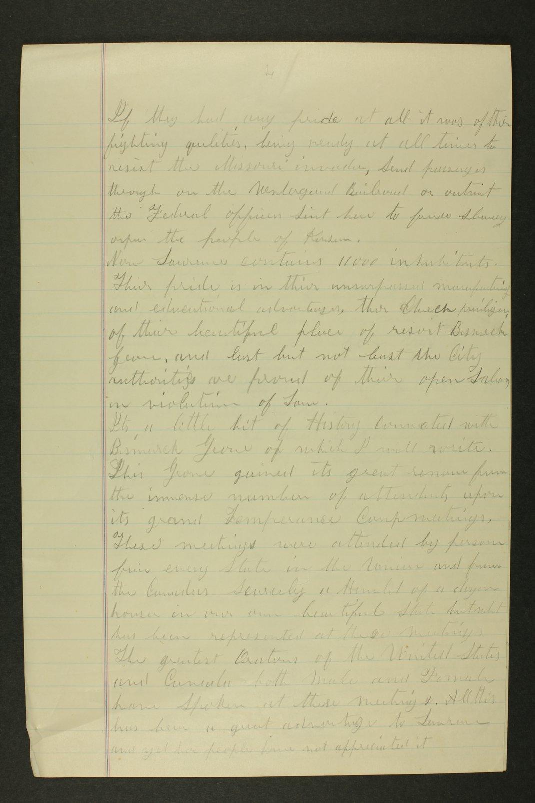 Temperance history correspondence - 10