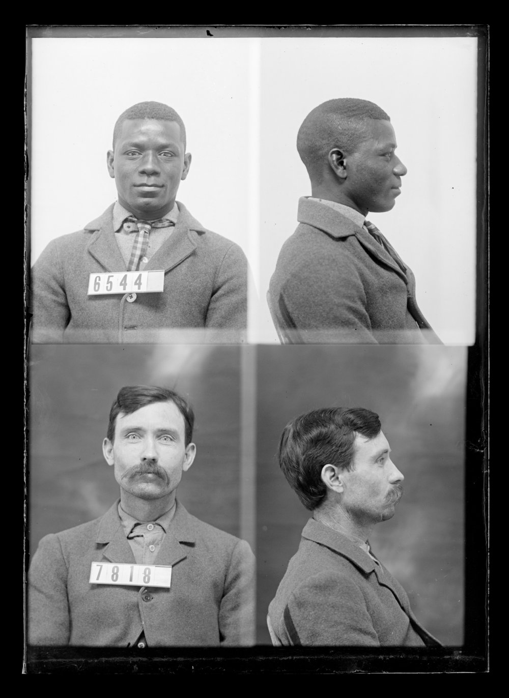Newman Brown and Art Kates, prisoners 7818 and 6544, Kansas State Penitentiary