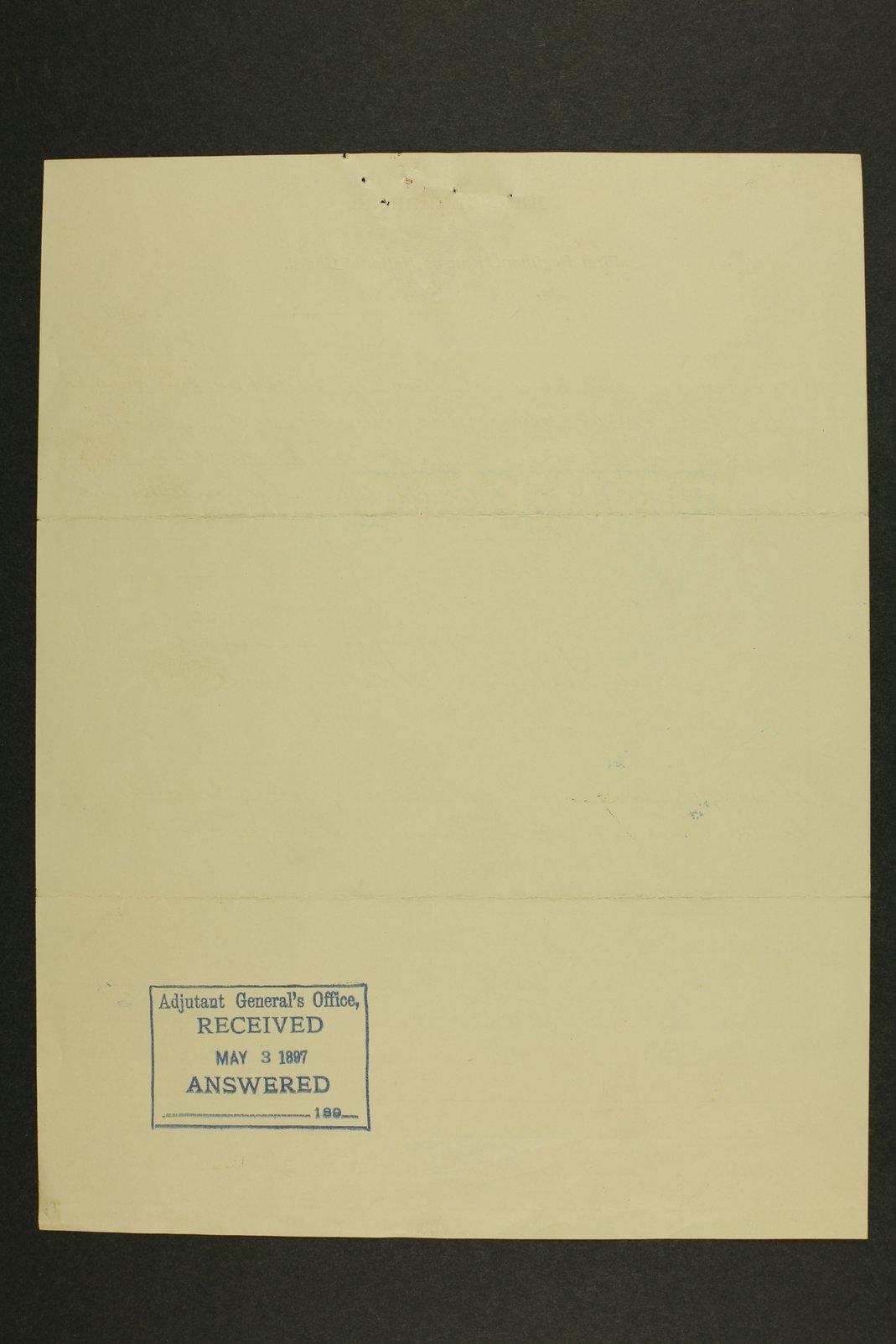 Kansas Adjutant General miscellaneous correspondence - 12