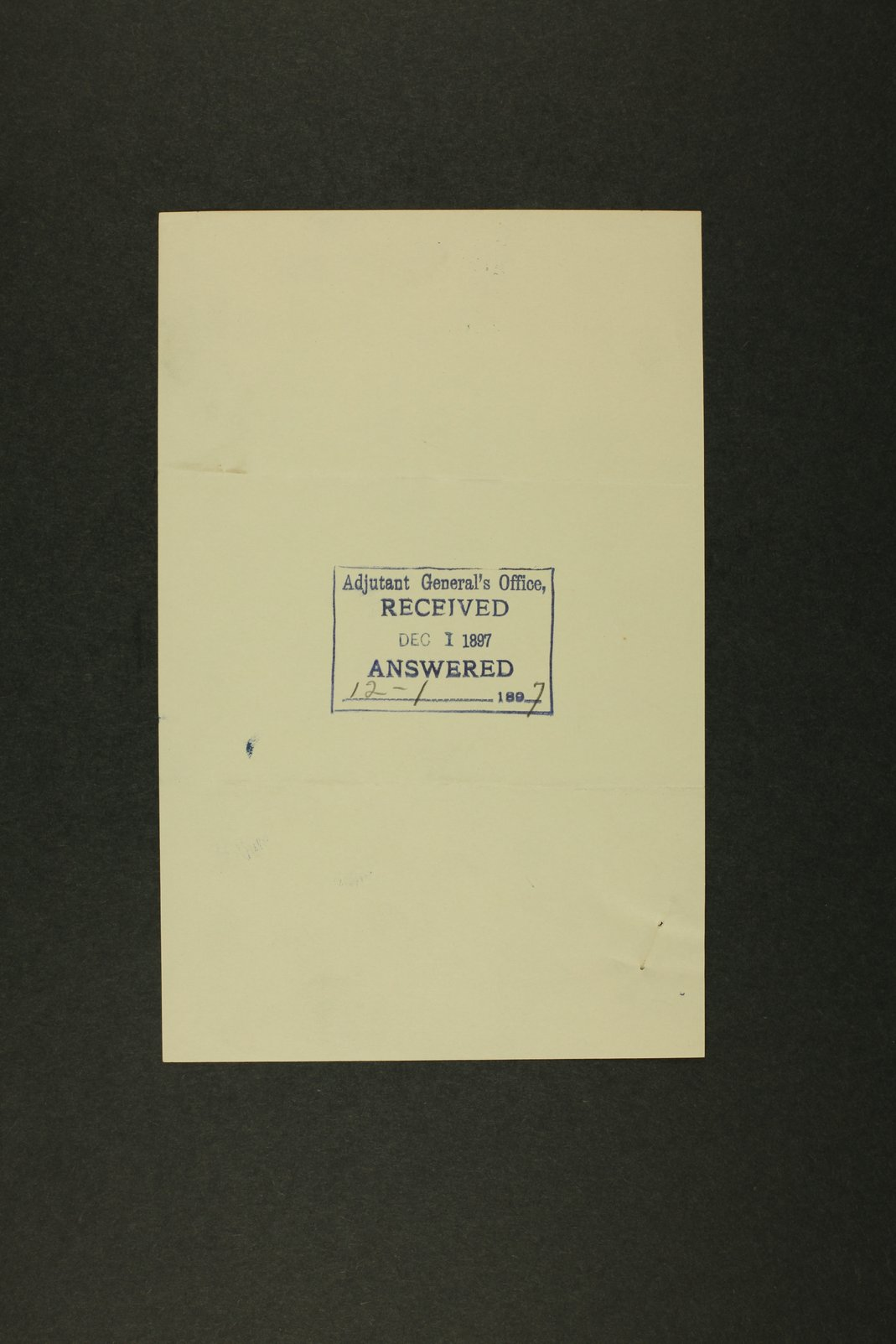 Kansas Adjutant General miscellaneous correspondence - 47