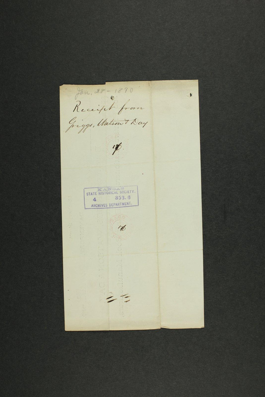 Kansas Adjutant General general correspondence, 1870 - 2