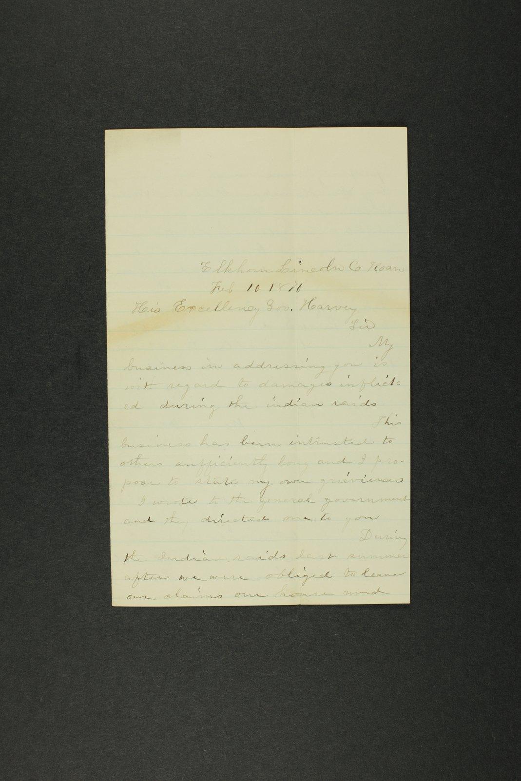 Kansas Adjutant General general correspondence, 1870 - 3