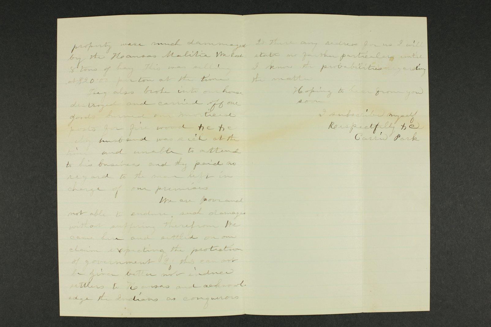 Kansas Adjutant General general correspondence, 1870 - 4