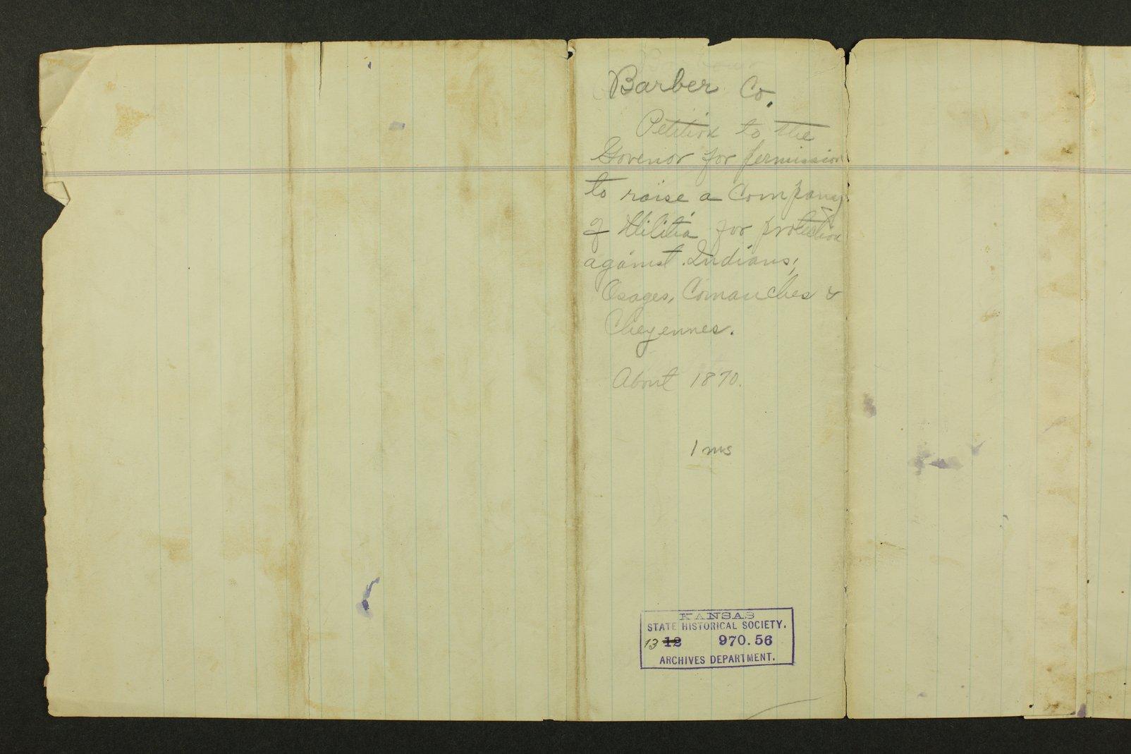 Kansas Adjutant General general correspondence, 1870 - 241