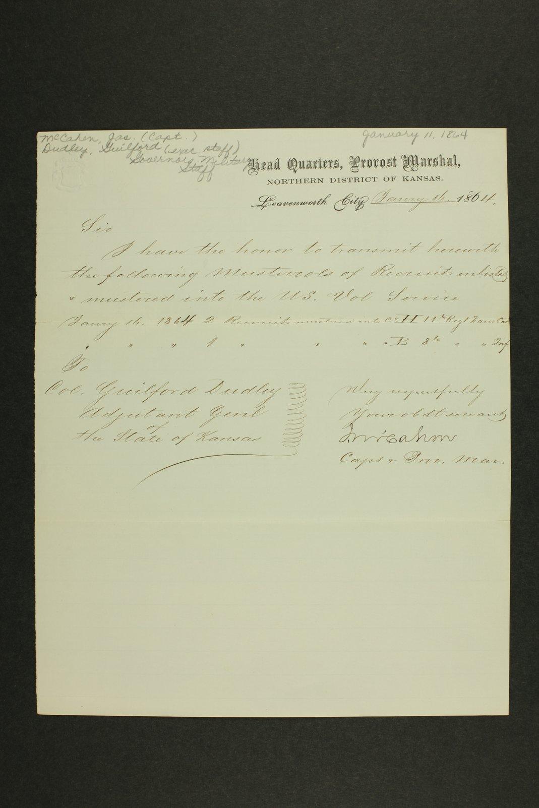Kansas Adjutant General general correspondence - 7