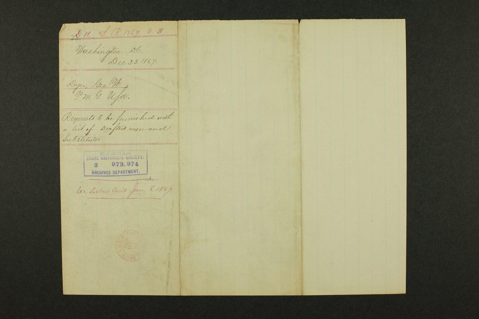 Kansas Adjutant General general correspondence - 178