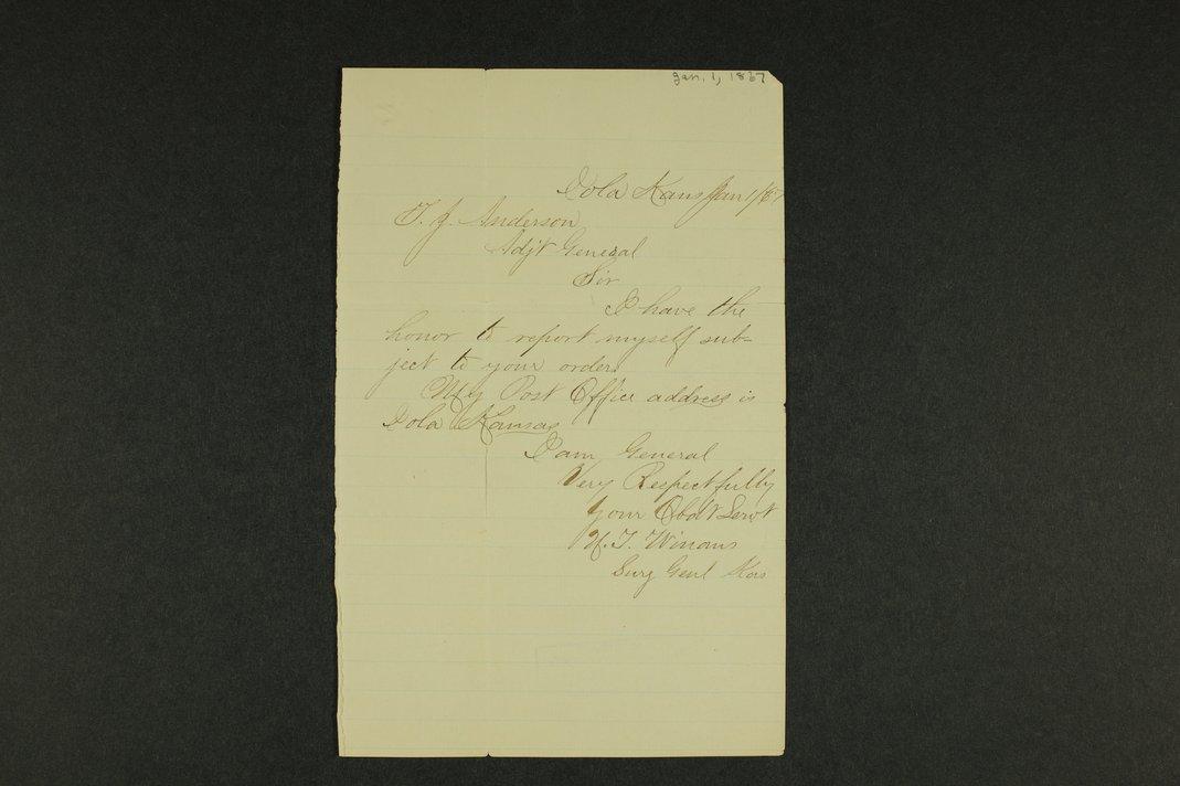 Kansas Adjutant General general correspondence - 1 [January - August 1867]