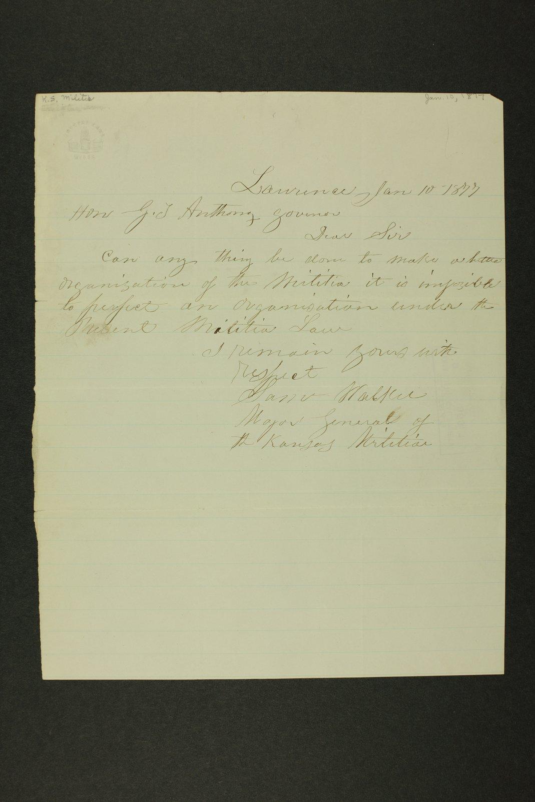 Kansas Adjutant General general correspondence - 8