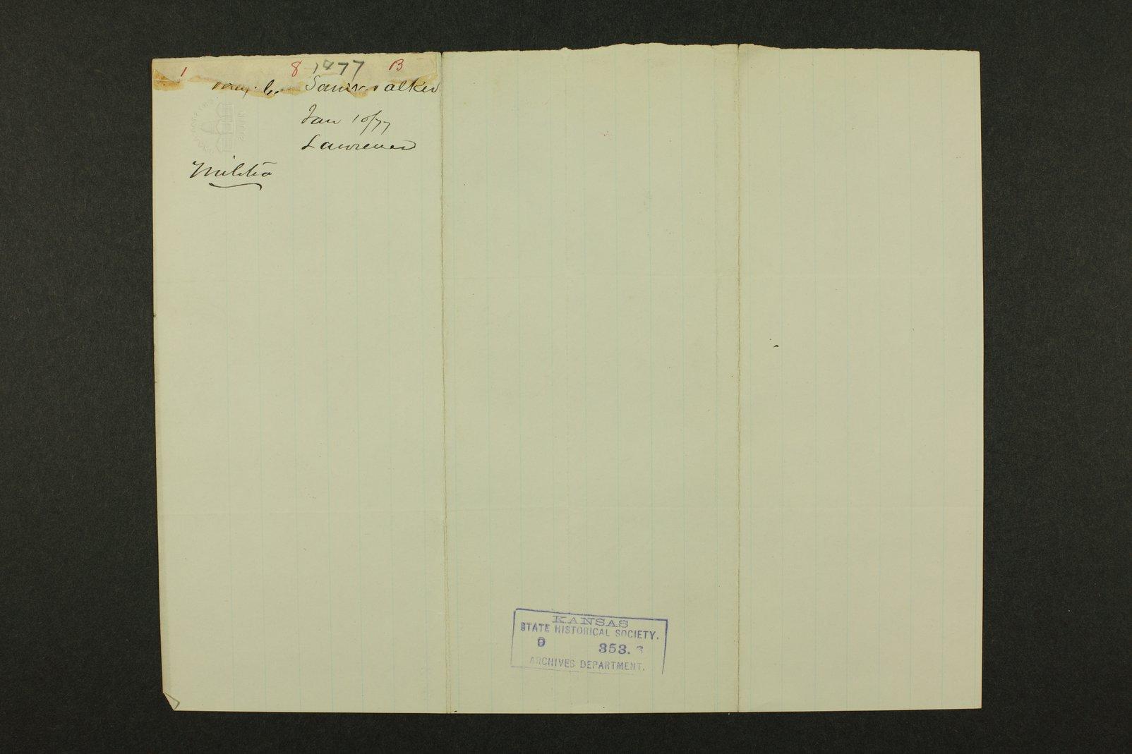 Kansas Adjutant General general correspondence - 9