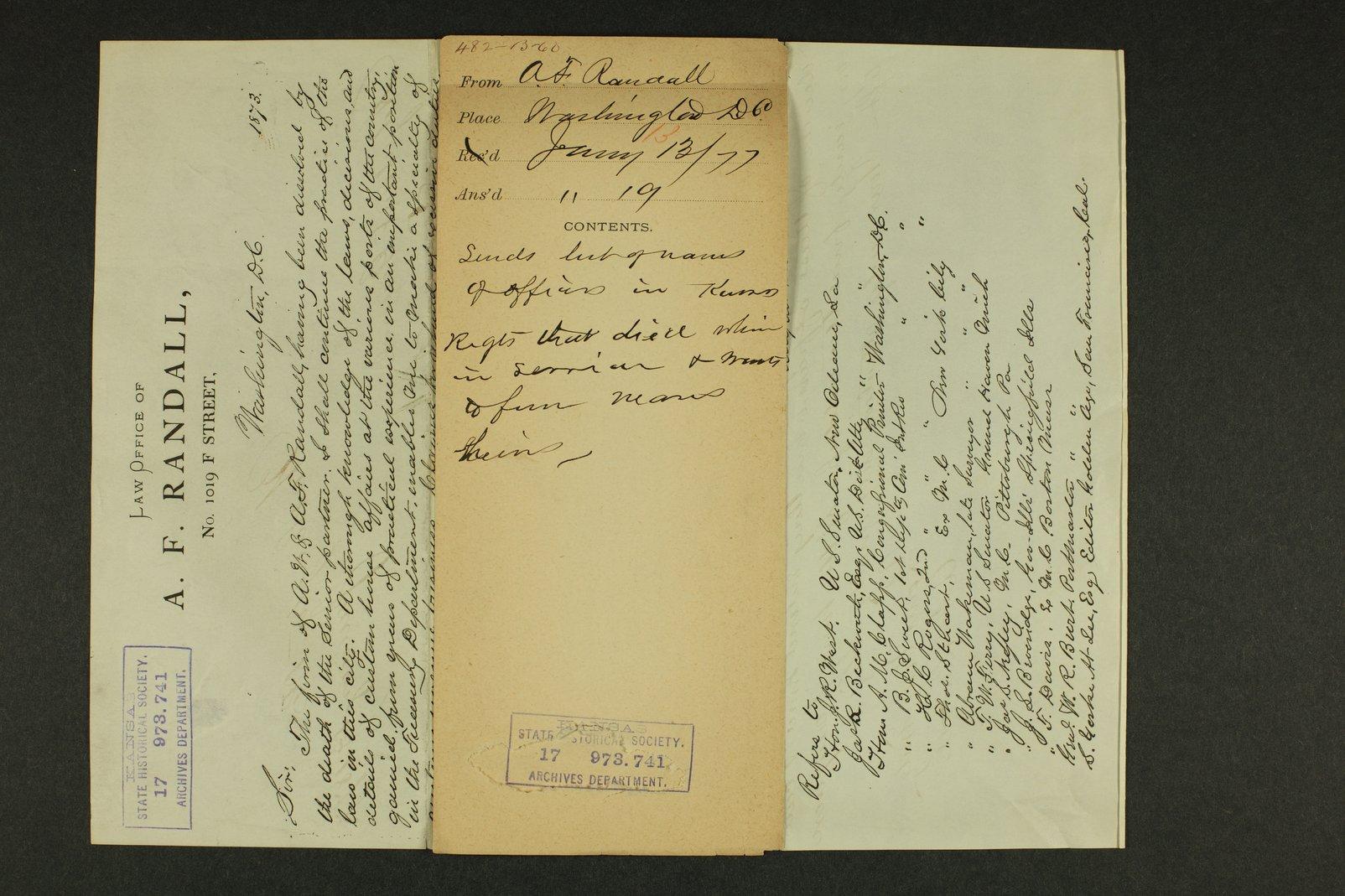 Kansas Adjutant General general correspondence - 12