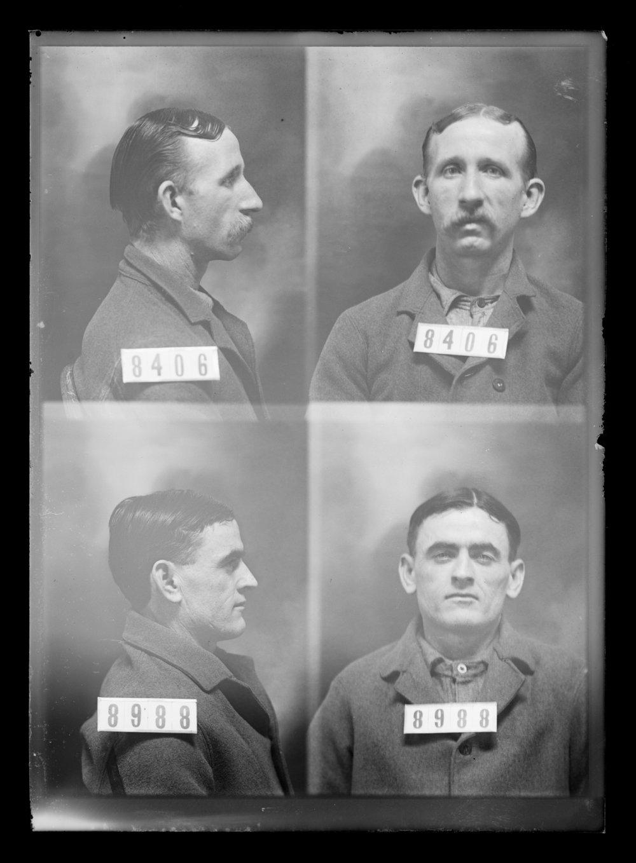 Bert Williams and Frank Adams, prisoners 8406 and 8988, Kansas State Penitentiary - 1