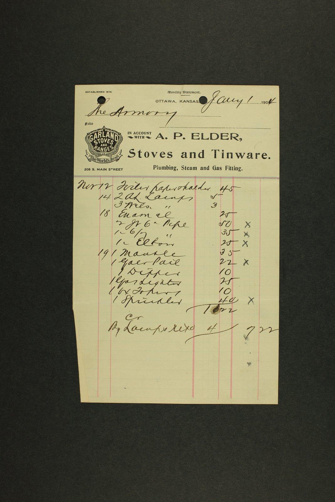 Kansas Adjutant General miscellaneous correspondence - 1 [January - June 1904]